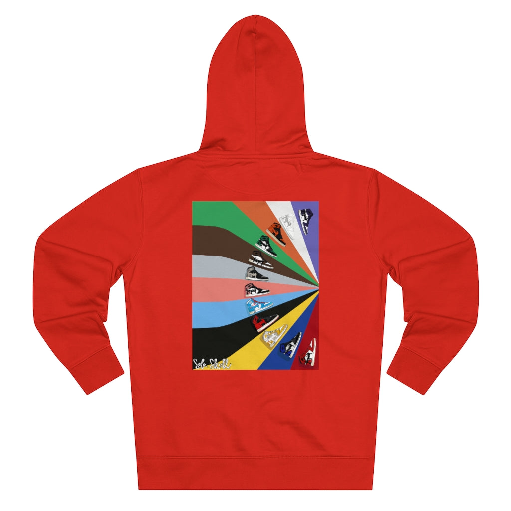 AJ1 Colour Block Zip-Up Hooded Sweatshirt