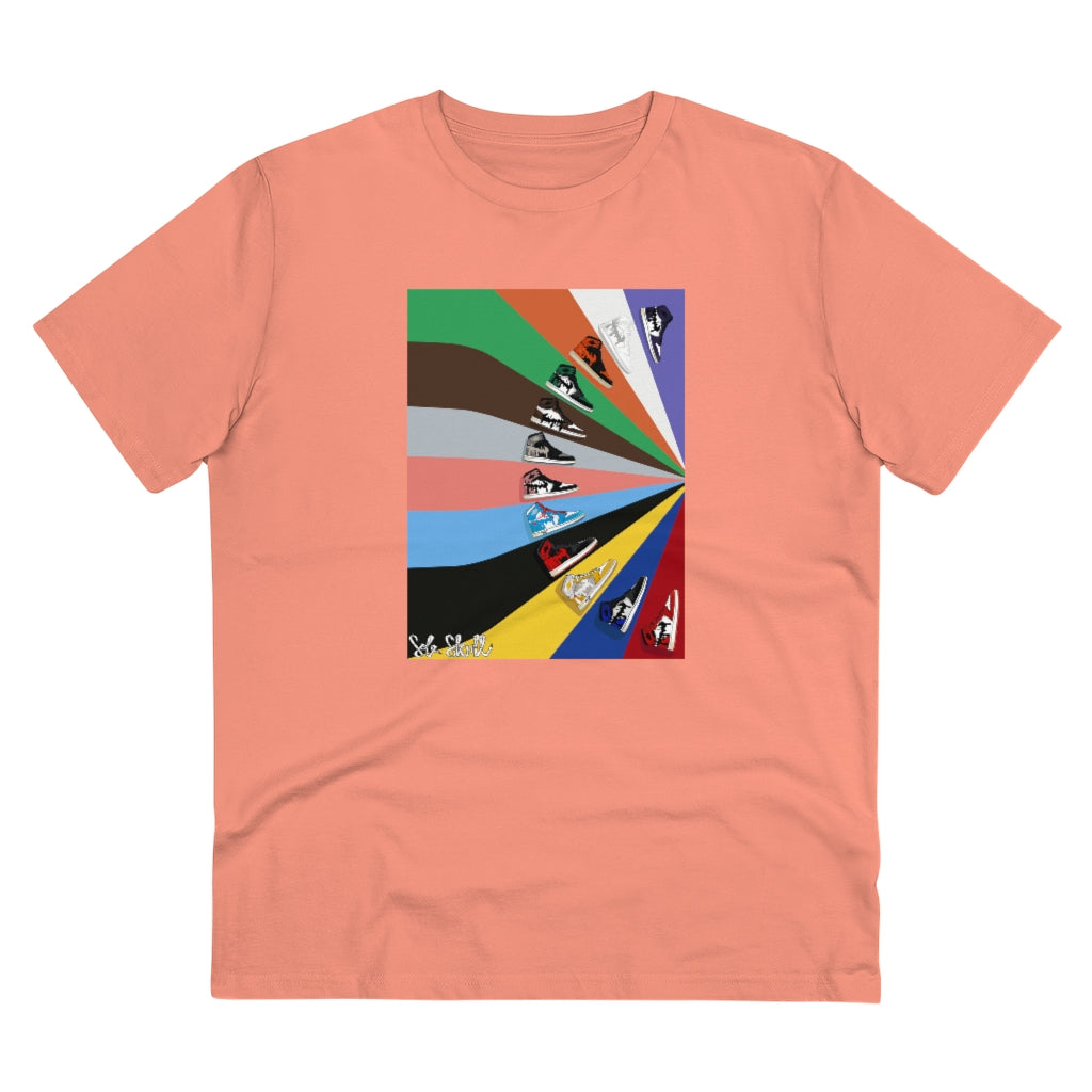 AJ1 Colour Block Organic Cotton T-shirt
