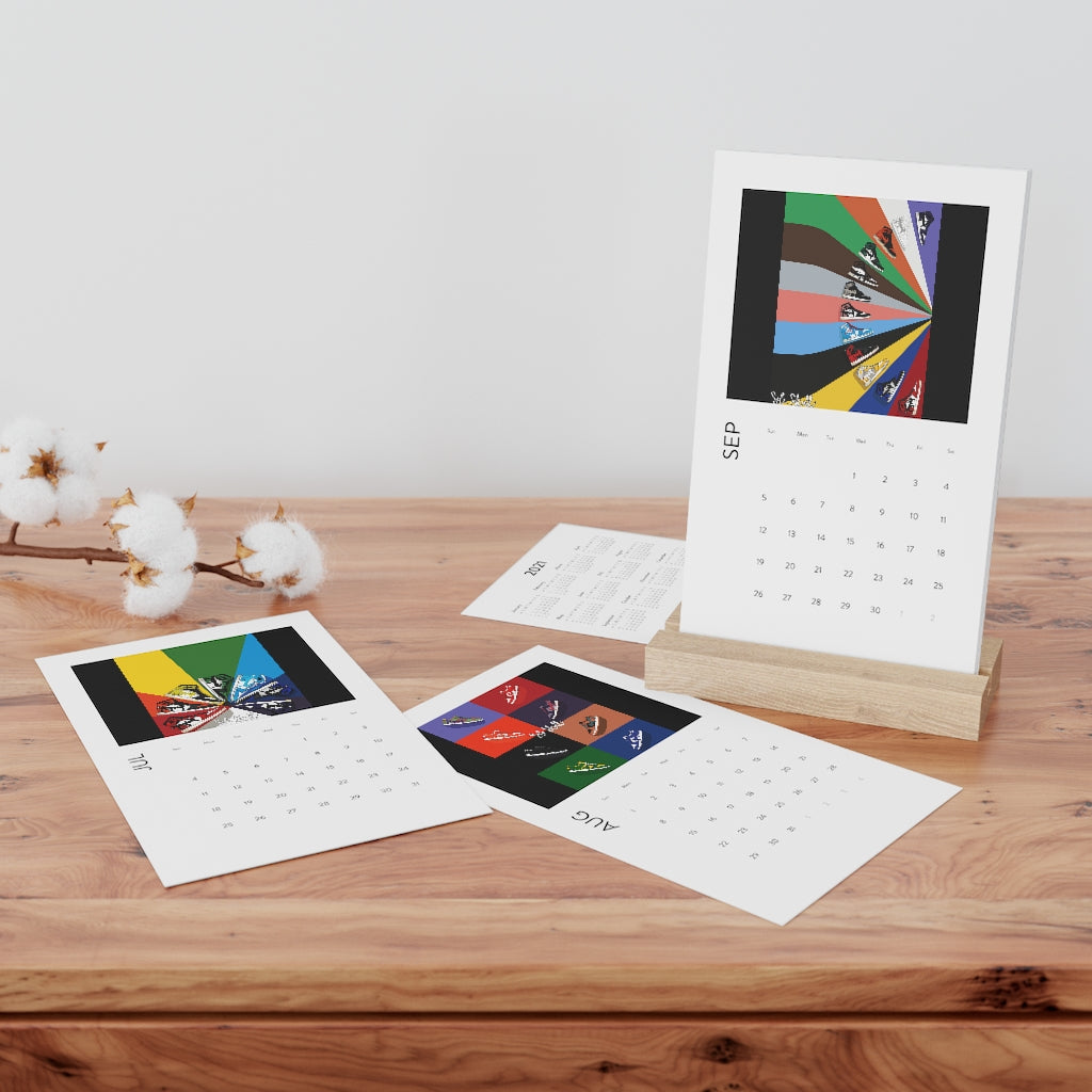 Custom Clobber Club X Sole Skull Vertical Sneaker Desk Calendar