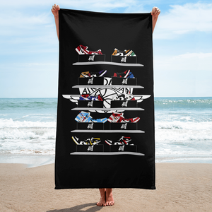 nike air jordan 1 beach bath towel