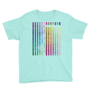 Rainbow Multi coloured Unisex Kids T-Shirt (W) - customclobberclub,  - Streetwear,T-shirts,Hoodies,Sweaters,hypebeast