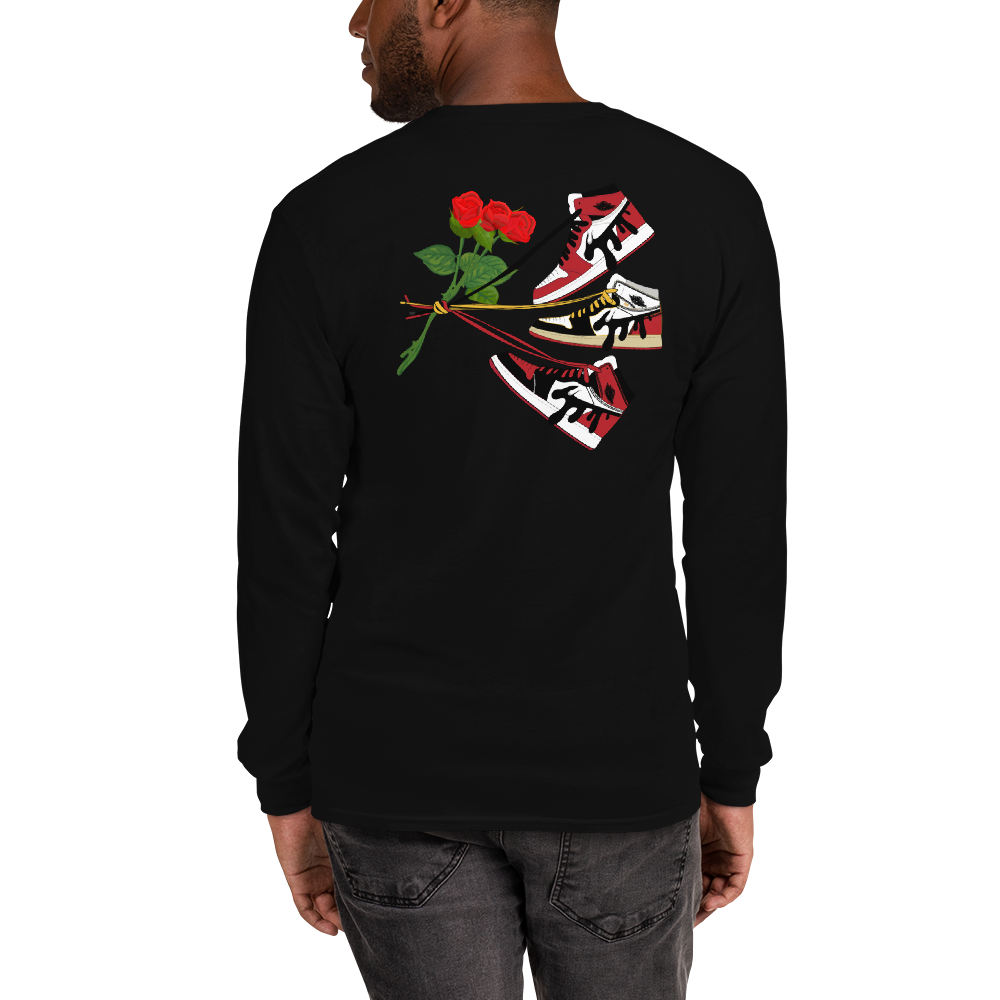 Roses R Red Jordan 1 Long Sleeve Tee