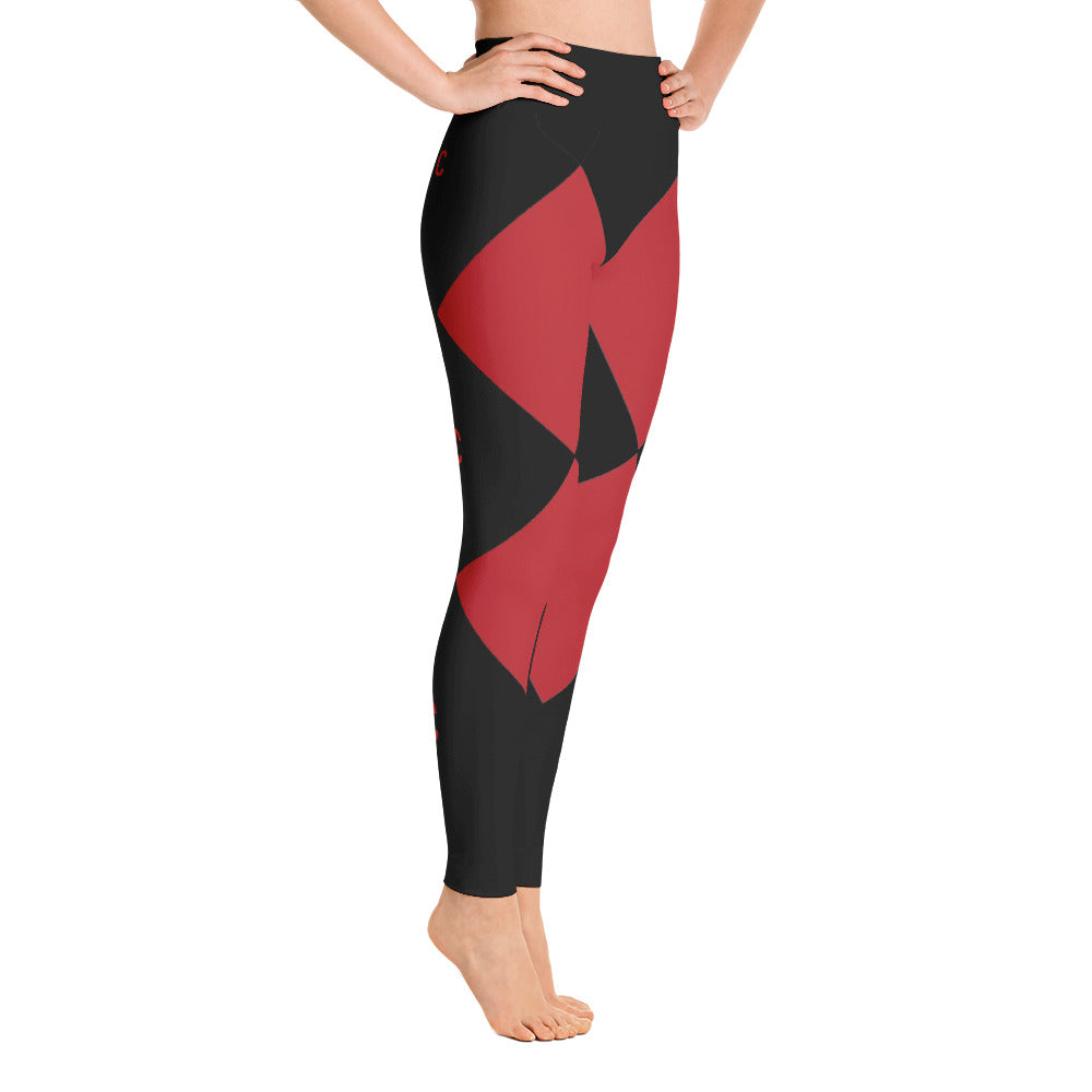 Triple C Black yoga Leggings From Custom Clobber Club - customclobberclub,  - Streetwear,T-shirts,Hoodies,Sweaters,hypebeast