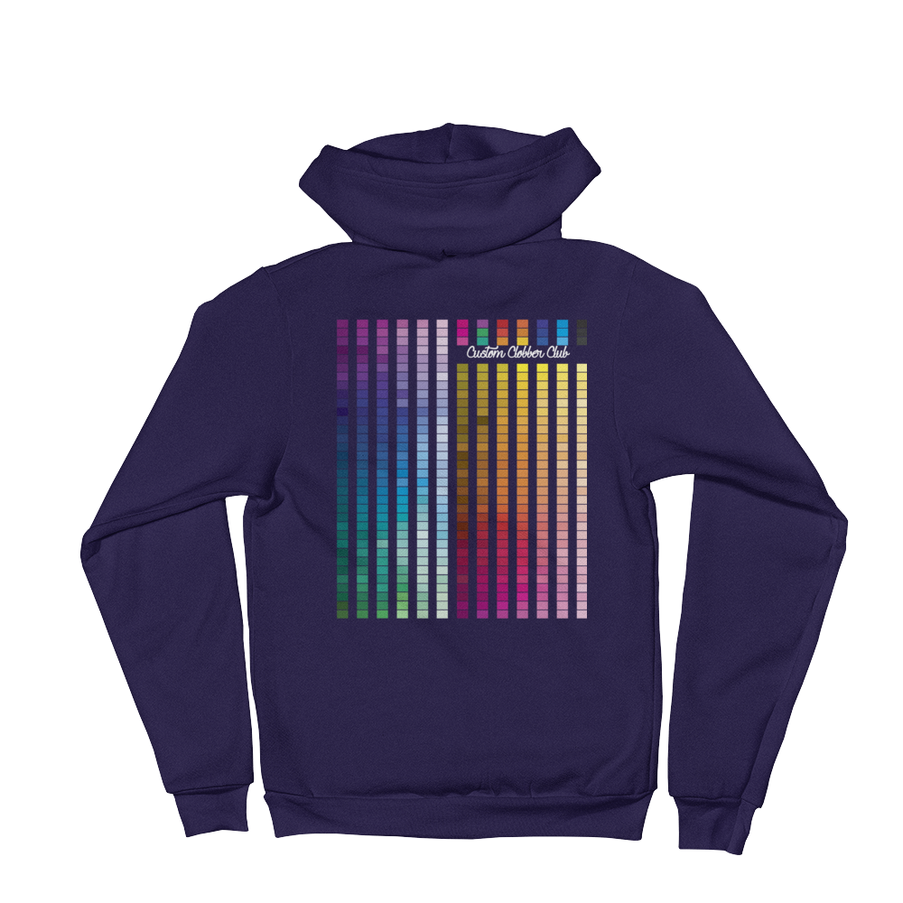 Rainbow Zip-up Hoodie Sweatshirt - customclobberclub,  - Streetwear,T-shirts,Hoodies,Sweaters,hypebeast