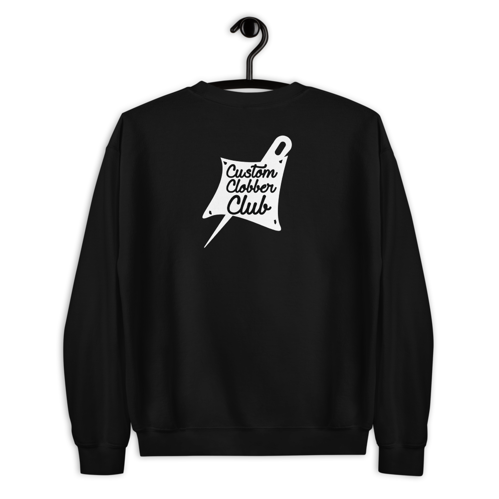 Custom Clobber Club Classic logo #1 Short-Sleeve Unisex Sweatshirt