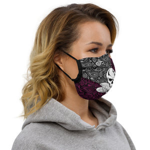 Sole Skull Pink Paisley Premium face mask