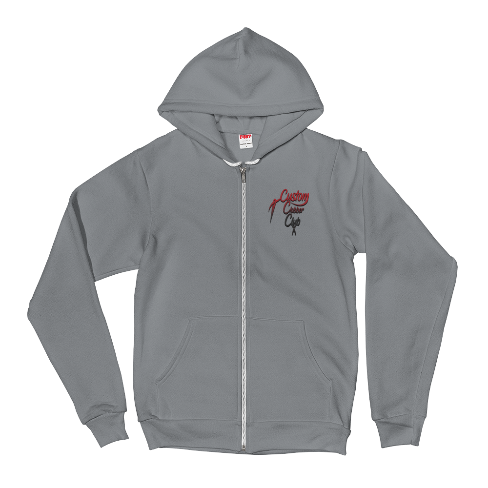 Unisex Zip-Up Hoodie From Custom Clobber Club (Grad) - customclobberclub,  - Streetwear,T-shirts,Hoodies,Sweaters,hypebeast