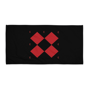 Triple C Black Beach Towel Limited Ed. - customclobberclub,  - Streetwear,T-shirts,Hoodies,Sweaters,hypebeast