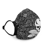 Sole Skull Paisley Print Premium face mask