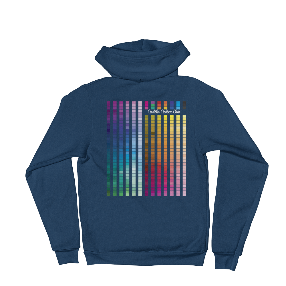 Rainbow Zip-up Hoodie Sweatshirt