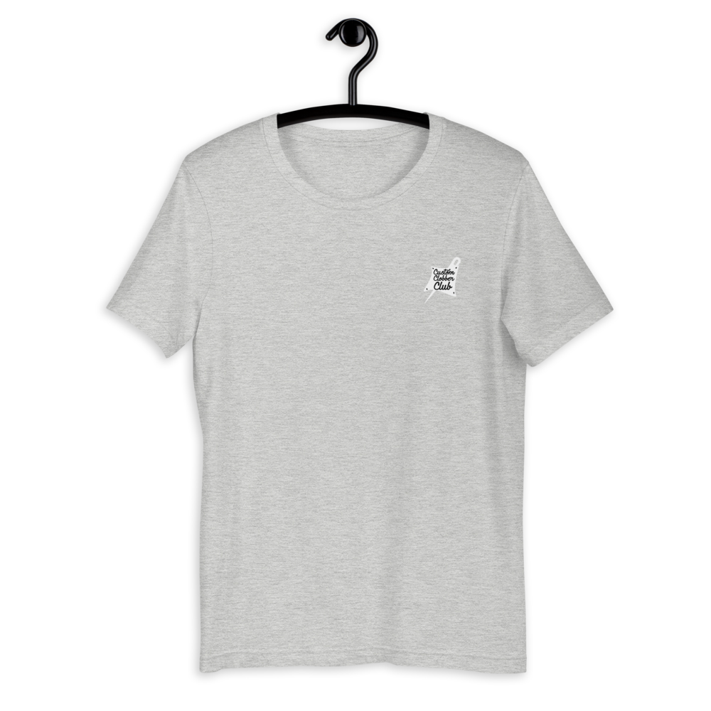 Custom Clobber Club Classic logo #1 Short-Sleeve Unisex T-Shirt