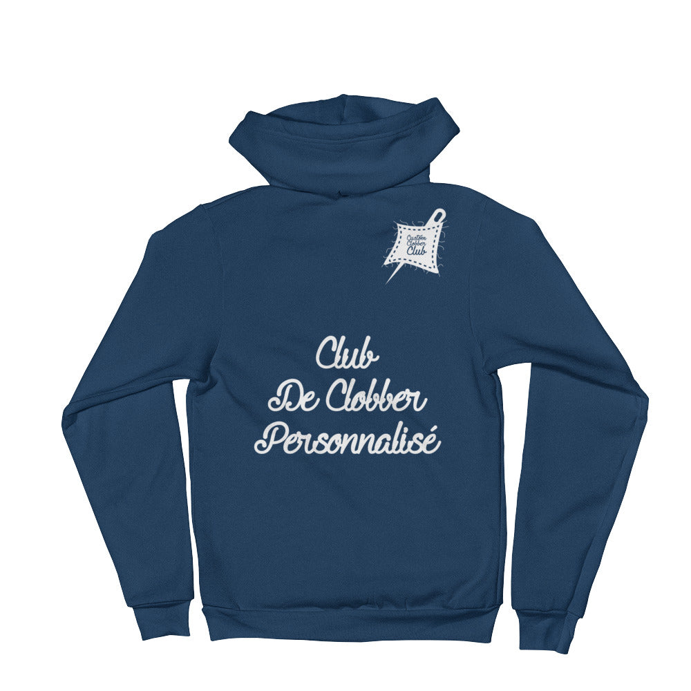 Custom Clobber Club French & Fancy Unisex Zip-Up Hoodie - customclobberclub,  - Streetwear,T-shirts,Hoodies,Sweaters,hypebeast
