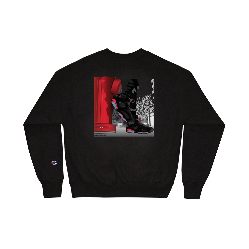 "Jordan 6 Infrared ""Block Boi"" Champion Sweatshirt"