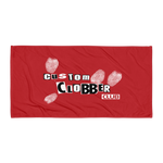 Red Beach Towel - customclobberclub,  - T-shirts & Sweaters