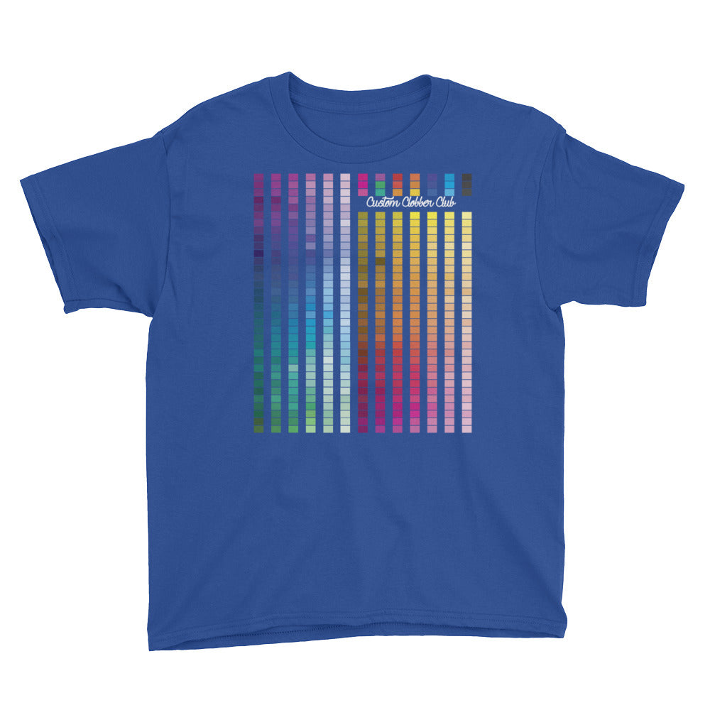 Rainbow Multi coloured childrens T-Shirt (W) - customclobberclub,  - T-shirts & Sweaters