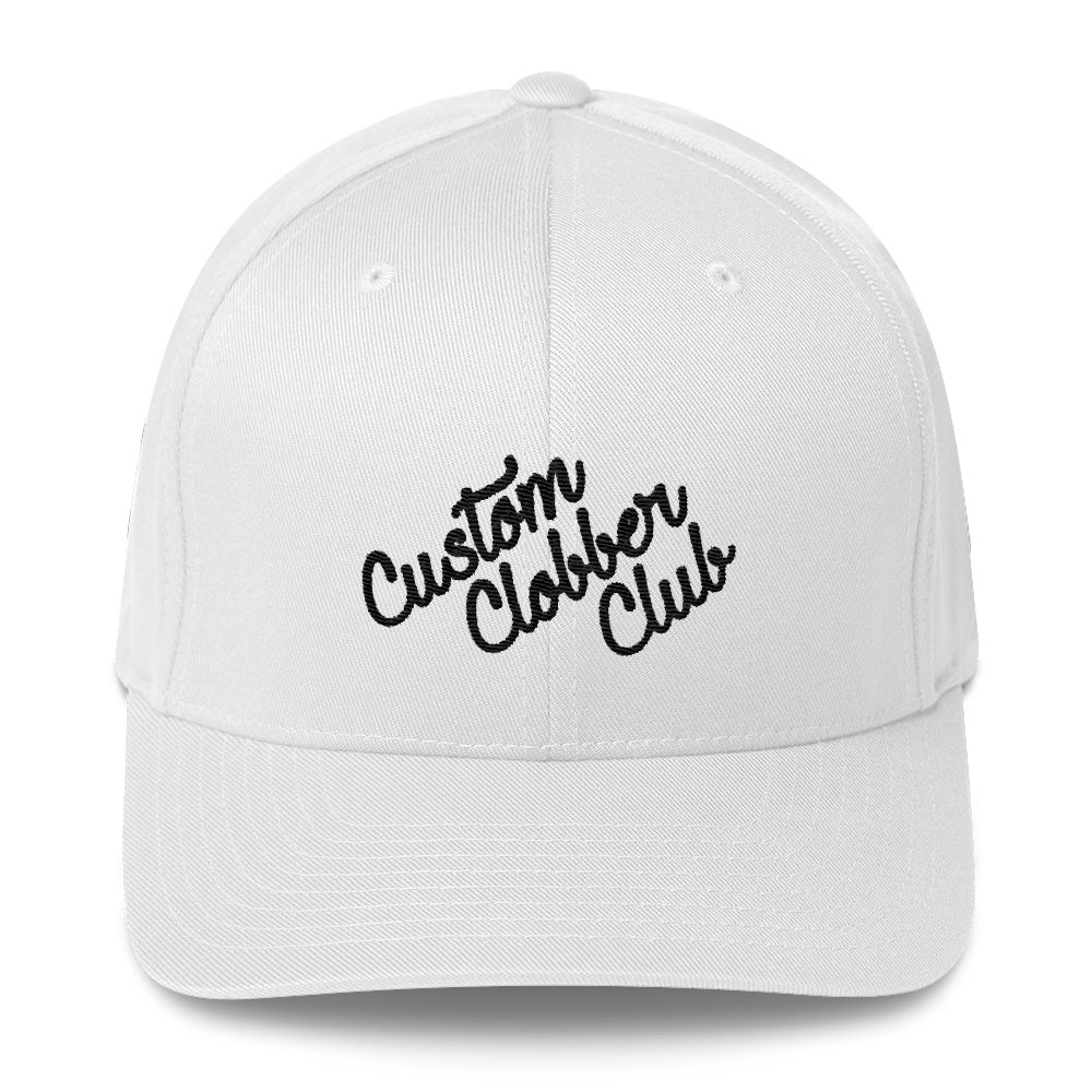 Classic Structured Twill Cap From Custom Clobber Club (BLK) - customclobberclub,  - Streetwear,T-shirts,Hoodies,Sweaters,hypebeast
