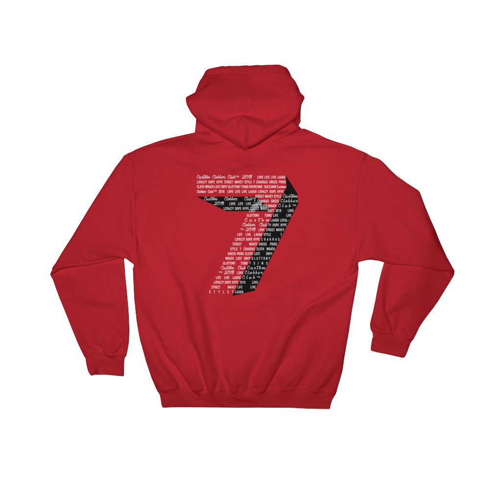 7 Sins Hooded Sweatshirt (BW) - customclobberclub,  - Streetwear,T-shirts,Hoodies,Sweaters,hypebeast