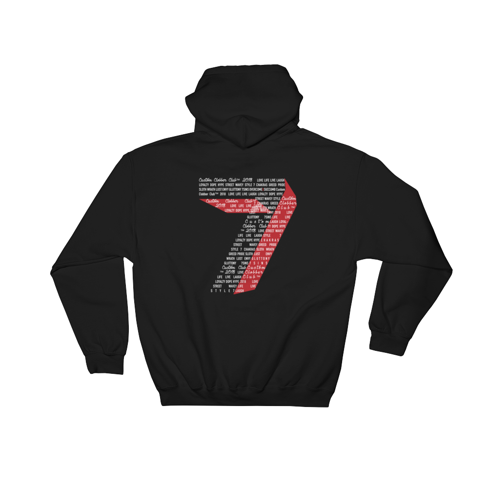 7 Sins Hooded Sweatshirt (WR) - customclobberclub,  - Streetwear,T-shirts,Hoodies,Sweaters,hypebeast