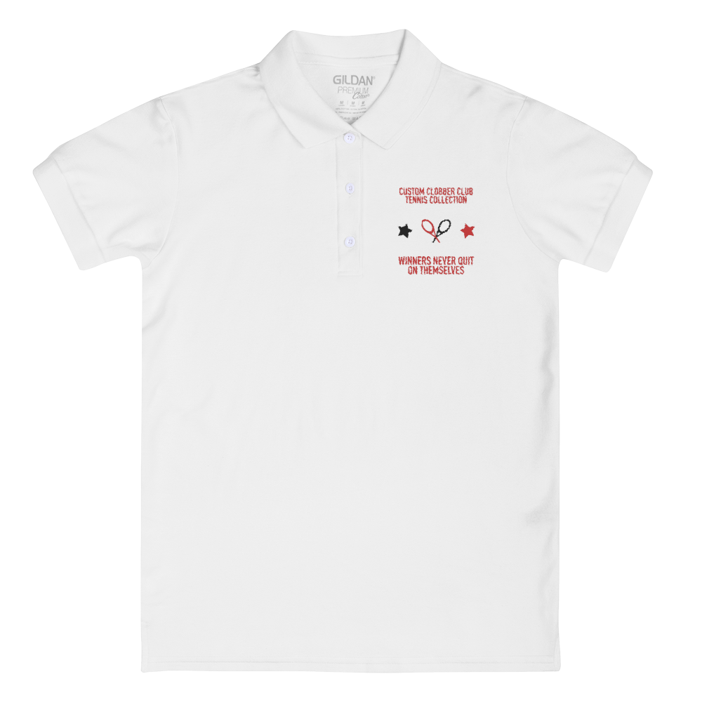 Women's Embroidered Tennis T-Shirt From Custom Clobber Club - customclobberclub,  - Streetwear,T-shirts,Hoodies,Sweaters,hypebeast