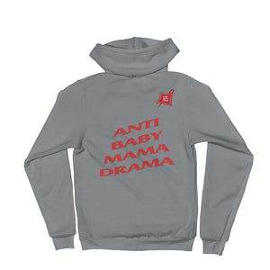 Custom Clobber Club Anti Baby Mama Drama Zip-Up Hoodie - customclobberclub,  - Streetwear,T-shirts,Hoodies,Sweaters,hypebeast