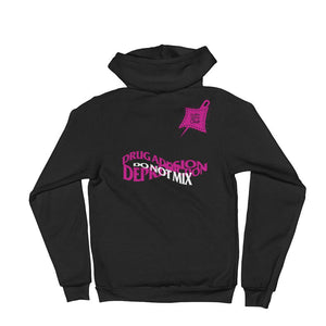 Depression Awareness Zip-Up Hoodie sweater - customclobberclub