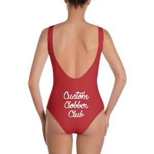 One-Piece Red Swimsuit - customclobberclub,  - T-shirts & Sweaters