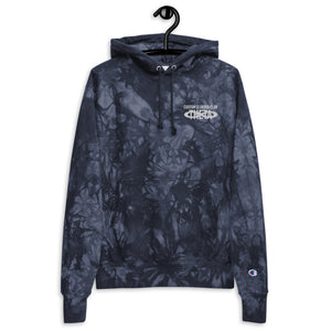 Unisex Custom Clobber Club x Champion tie-dye embroidered hoodie