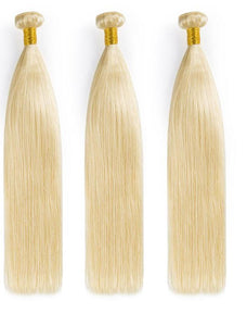 #613 Blonde Brazilian Straight- 3 bundles