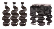 3 bundles w/ Frontal- Brazilian Body wave