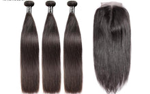 Indian Straight - 3 bundles w/ Closure