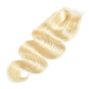 #613 Blonde Brazilian Closure- Body Wave