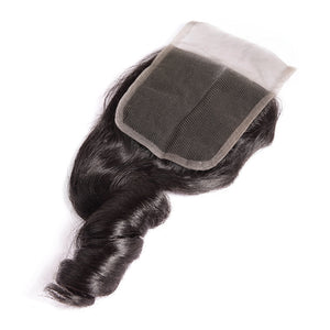 3 bundles w/ closure- Peruvian Loose Wave
