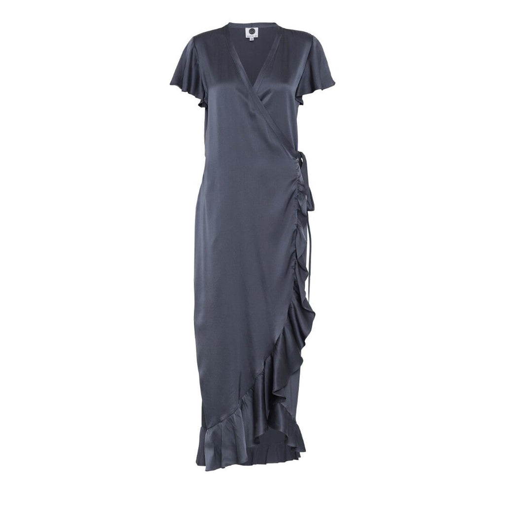 INDRA silk dress, Anthracite