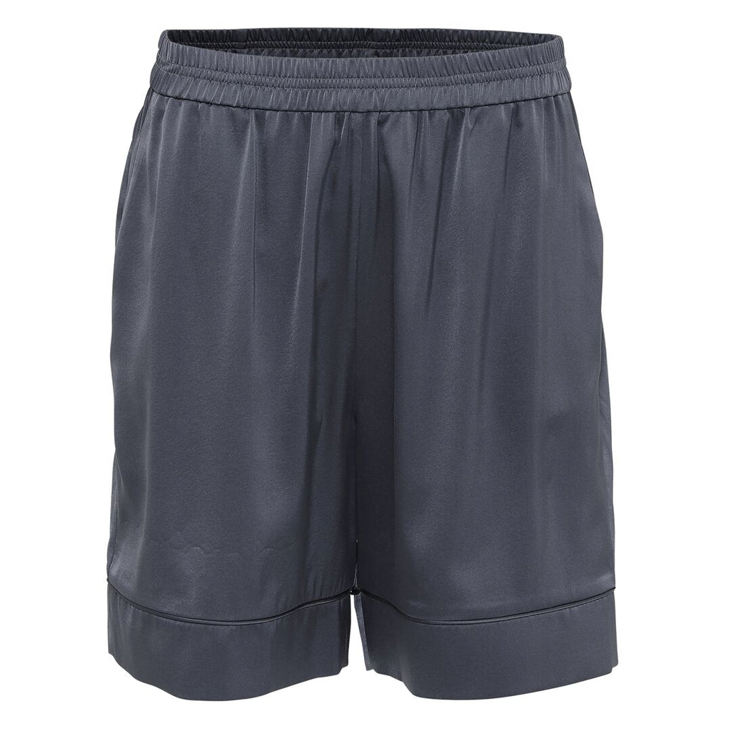 ISLA silk shorts, Anthracite