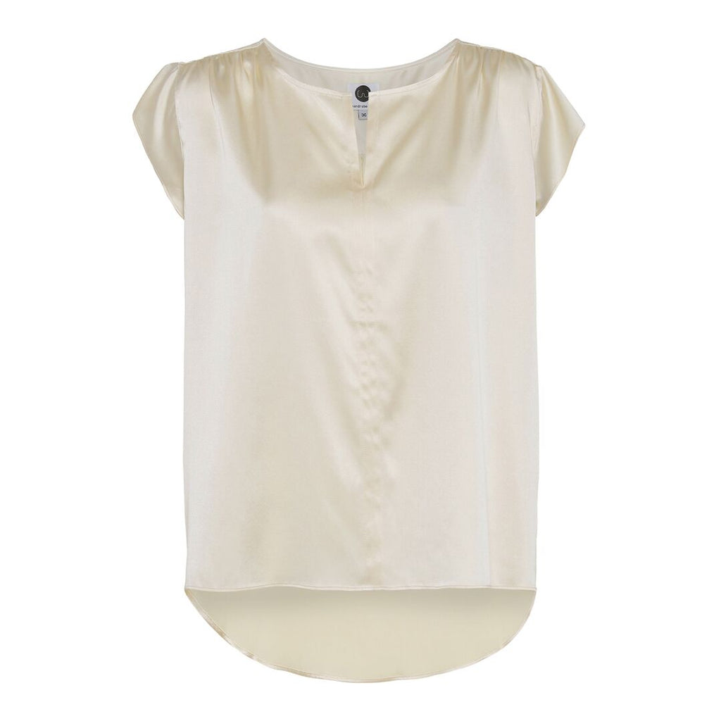 IZABEL silk top, Light Yellow