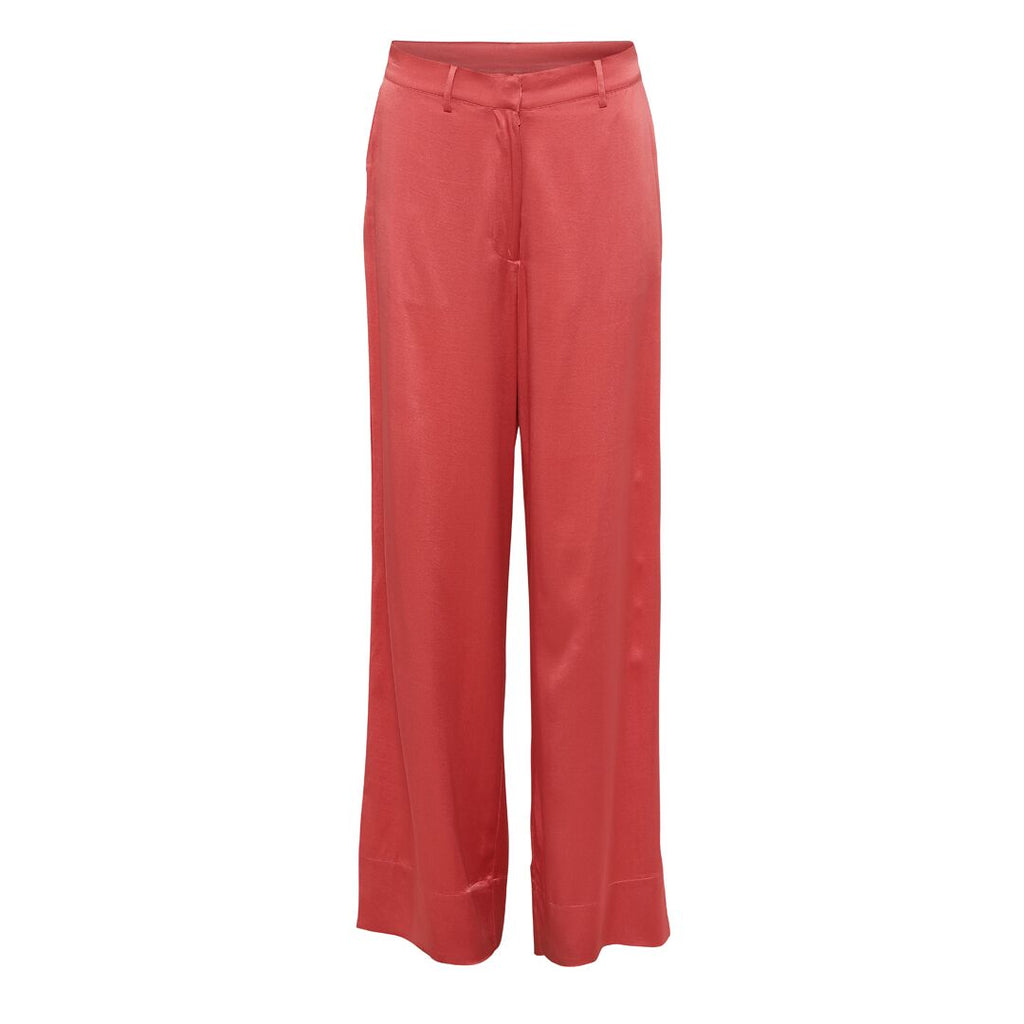 KALVIN silk pants, Burnt Sienna