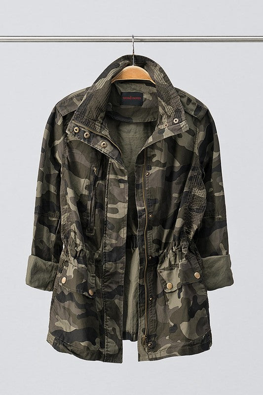 Plus Size Camo Jacket