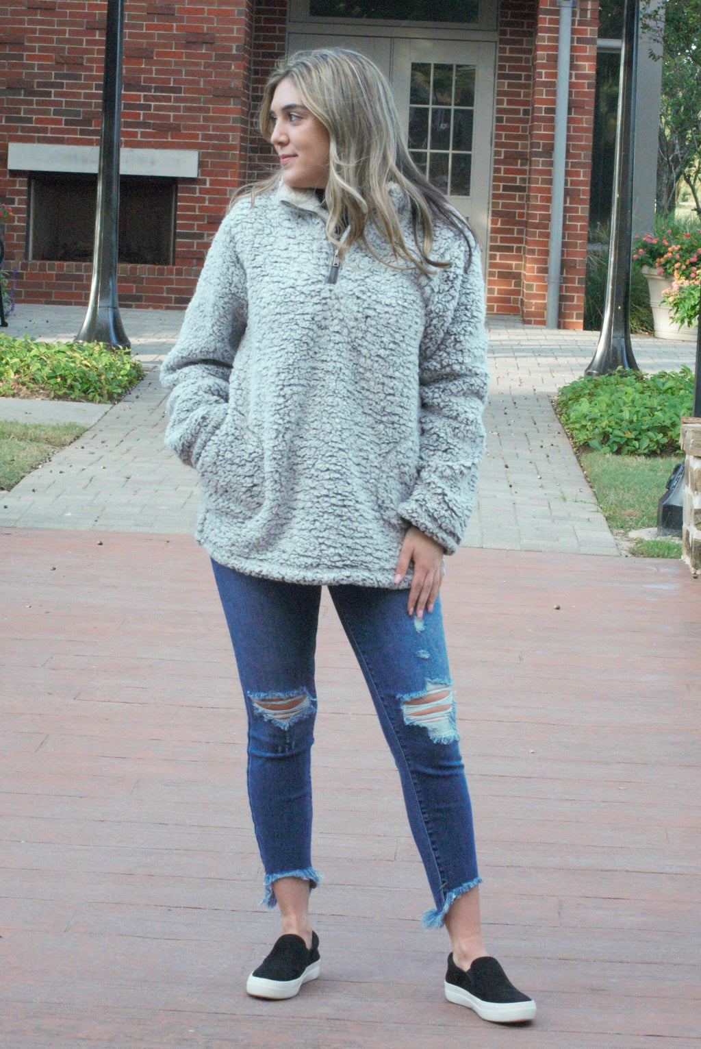 Long Sleeve Fleece Pullover