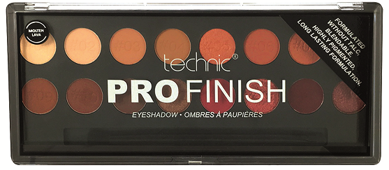 Technic Pro Finish Eyeshadow Palette - Molten Lava