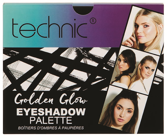 Technic Gift Golden Glow Eyeshadow Palette
