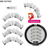New 2 Pair  Magnetic False Eyelashes
