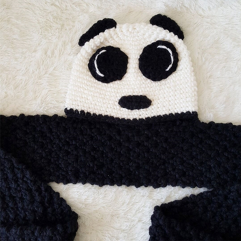 Retro Panda Handmade Hat for kids Any Panda