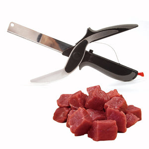 PROFESSIONAL 2 IN 1 STAINLESS STEEL KNIFE & CUTTING BOARD SCISSORS