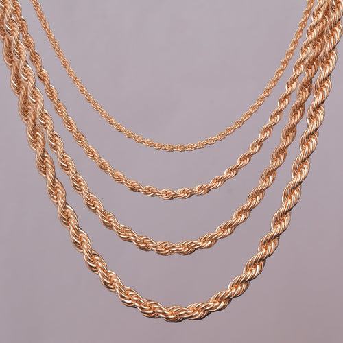 Gold Rope Chain Necklace 16