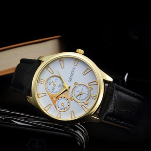 Men's Quartz Geneva Watches