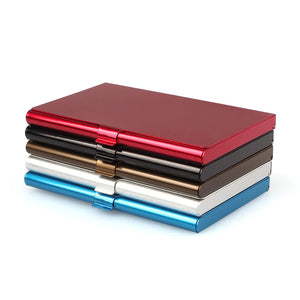 Multi-colored Metallic Aluminum Card Holder
