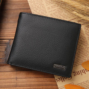 Men Wallets Bifold Leather Wallet