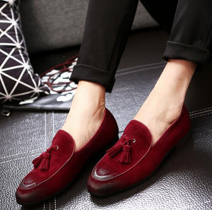 Leather Tassel Oxfords Loafers