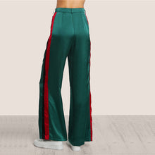 Walk in the room with these Gucci-Like Green Striped Bell Bottom Pants and add a new taste to your wardrobe