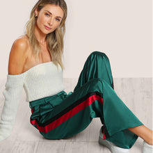 Must have hipster Gucci like Green Striped Bell Bottom Pants